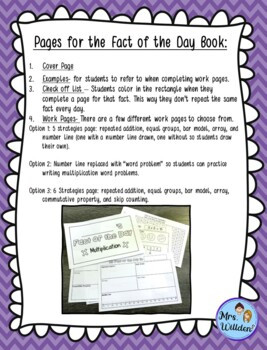 Multiplication Strategies - Fact of the Day Book