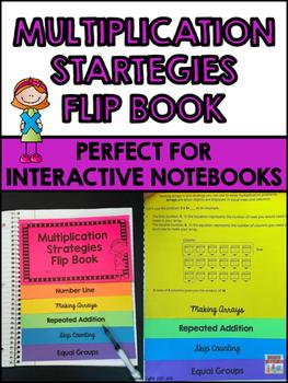 Multiplication Strategies Flip Book for Interactive Notebooks