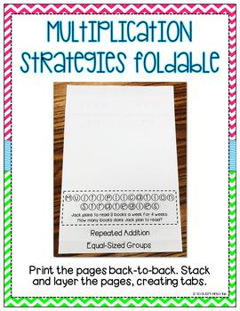 Multiplication Strategies Foldable Freebie