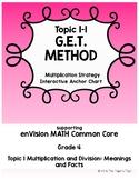 Multiplication Strategies - GET Method - Interactive Anchor Chart