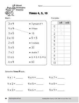 Multiplication Strategies, Grade 3: Mixed Strategies Practice