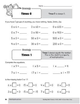 Multiplication Strategies, Grade 3: Times 0 & Times 1