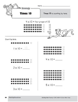 Multiplication Strategies, Grade 3: Times 10