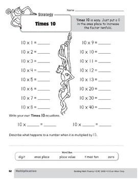 Multiplication Strategies, Grade 3: Times 10