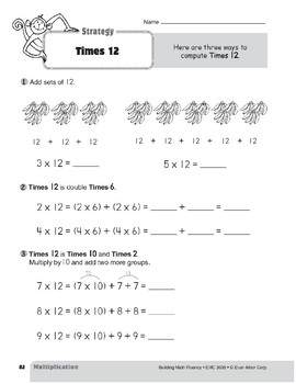 Multiplication Strategies, Grade 3: Times 12