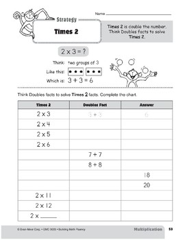 Multiplication Strategies, Grade 3: Times 2