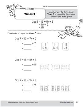 Multiplication Strategies, Grade 3: Times 3