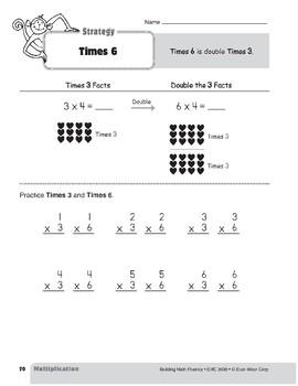Multiplication Strategies, Grade 3: Times 6