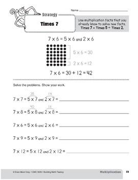 Multiplication Strategies, Grade 3: Times 7