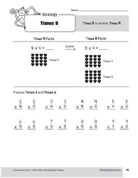 Multiplication Strategies, Grade 3: Times 8