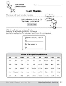 Multiplication Strategies, Grades 4-6+: Fact Power Skill Builders