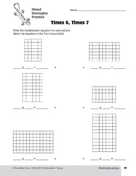 Multiplication Strategies, Grades 4-6+: Mixed Strategies Practice