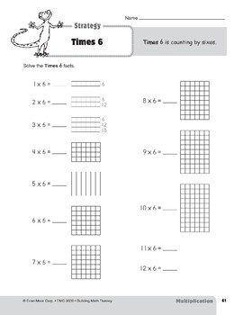 Multiplication Strategies, Grades 4-6+: Times 6