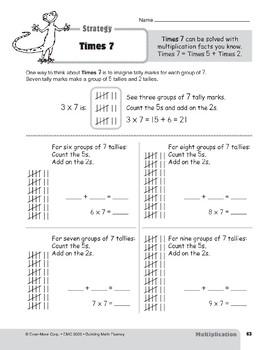 Multiplication Strategies, Grades 4-6+: Times 7