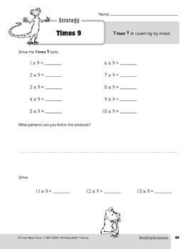 Multiplication Strategies, Grades 4-6+: Times 9