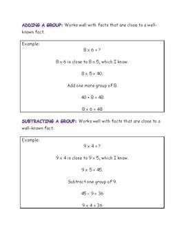 Multiplication Strategies Handout
