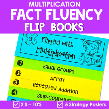 Multiplication Strategies Interactive Flip Books {2's - 10's}