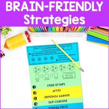 Multiplication Strategies Interactive Flip Books {2's - 10's}