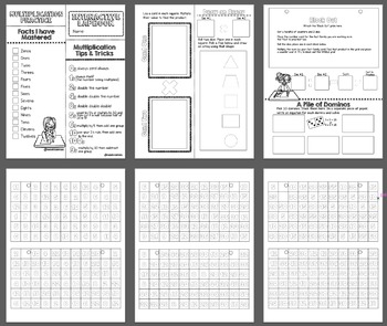 Multiplication Strategies Interactive Lapbook and Games