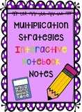 Multiplication Strategies Interactive Notebook