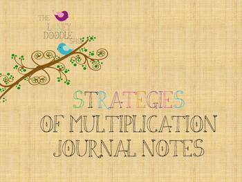 Multiplication Strategies Journal Notes