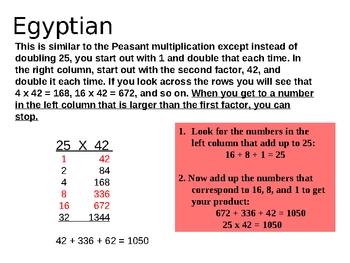 Multiplication Strategies Lattice Partial Products Peasant