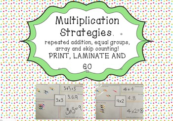 #betterthanchocolate Multiplication Strategies Mat