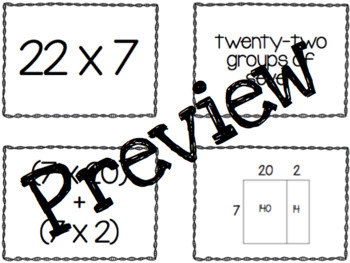Multiplication Strategies Mix and Match