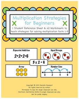 Multiplication Strategies Packet for Special Education