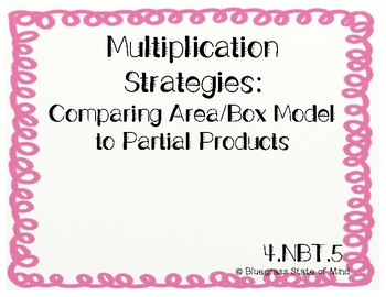 Multiplication Strategies: Partial Product & Area Models