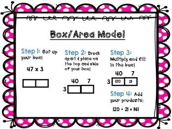 Multiplication Strategies Posters FREEBIE!