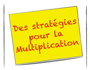 Affiche Multiplication multiplication strategies posters in french - affiche en francais