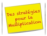 Multiplication Strategies Posters in French - affiche en francais