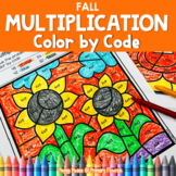 Multiplication Color by Code | Color by Number {2's - 9's} {Fall}