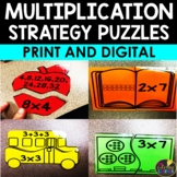 Multiplication Strategies Puzzles