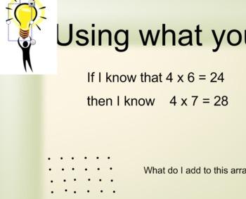 Multiplication Strategies SmartNB - Using what you know! FREEBIE