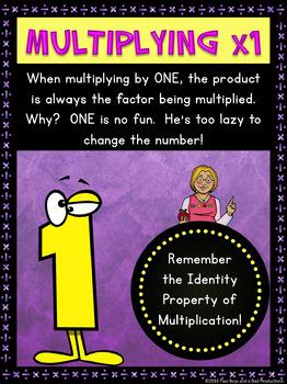 Multiplication Strategies & Tips Posters SAMPLER