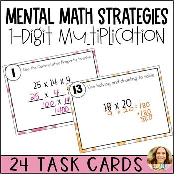2-Digit Multiplication Strategies Using Mental Math Task Cards