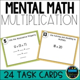 2-Digit Multiplication Strategies Using Mental Math Task Cards