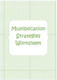 Multiplication Strategies Worksheet
