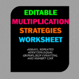 Multiplication Strategies Worksheet