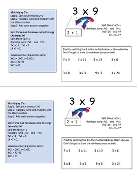 Multiplication Strategies for 3, 6, 7 - Mini workbook - Second and Third Grade