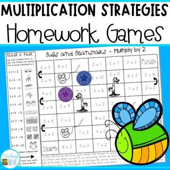 Multiplication Strategy Games for each multiplication fact