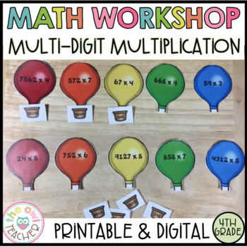 Multiplication Strategies with Larger Numbers Guided Math Workshop Unit