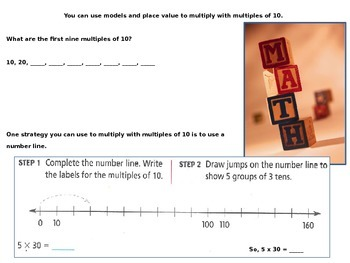 Multiplication Strategies with Multiples of 10