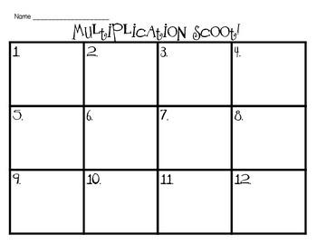 Multiplication StrategiesScoot