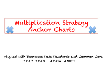 Multiplication Strategy Anchor Charts