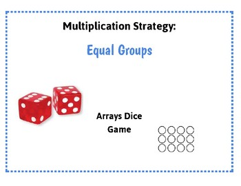 Multiplication Strategy Array Dice Game