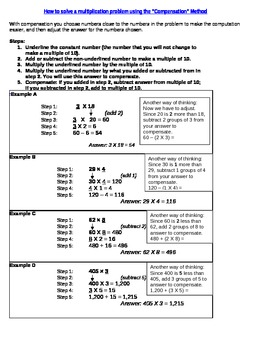 Multiplication Strategy: Compensation