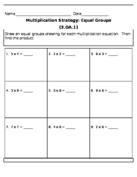 Multiplication Strategy: Equal Groups